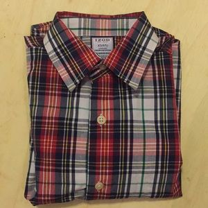 !!!5for20!!!Like New Izod plaid shirt Sz XS or 4/5